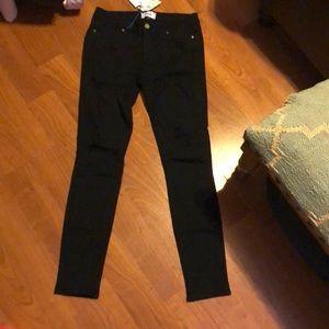 Paige black distressed jeans
